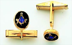 Masonic Cuff Links 14KT Yellow Gold #6