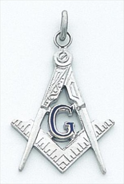 Masonic Blue Lodge Pendant Sterling Silver #4