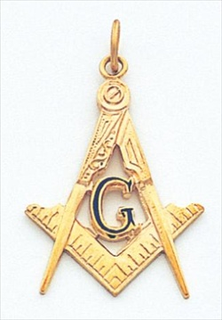 Masonic Blue Lodge Pendant Vermeil #3