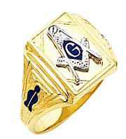 #126a Blue Lodge Masonic Ring 10K or 14K Open Back