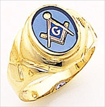 3rd Degree Masonic Blue Lodge Ring 10KT OR 14KT Open or Solid Back, White or Yellow Gold, #192b