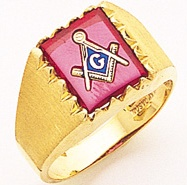 3rd Degree Masonic Blue Lodge Ring 10KT OR 14KT Open Back, White or Yellow Gold, #185b