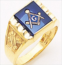 3rd Degree Masonic Blue Lodge Ring 10KT OR 14KT Partial Solid Back, White or Yellow Gold, #194b
