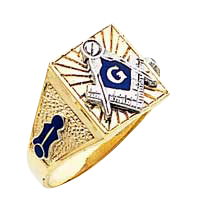 #130a Blue Lodge Masonic Ring 10K or 14K