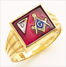 3rd Degree Masonic Blue Lodge Ring 10KT OR 14KT Solid Back, White or Yellow Gold, #187b