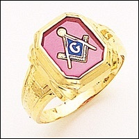 3rd Degree Masonic Blue Lodge Ring 10KT OR 14KT Open or Solid Back, White or Yellow Gold, #181b