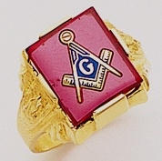 3rd Degree Masonic Blue Lodge Ring 10KT OR 14KT Open or Solid Back, White or Yellow Gold, #186b