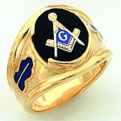 Gold Plated Blue Lodge Masonic Ring #4