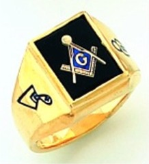 Gold Plated Blue Lodge Masonic Ring #5