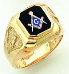 Gold Plated Blue Lodge Masonic Ring #6