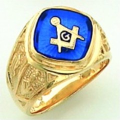 Gold Plated Blue Lodge Masonic Rings