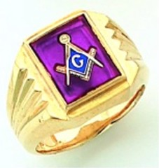 Gold Plated Blue Lodge Masonic Ring #8