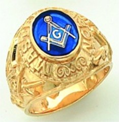 Gold Plated Blue Lodge Masonic Ring #9