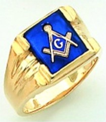 Gold Plated Blue Lodge Masonic Ring #10