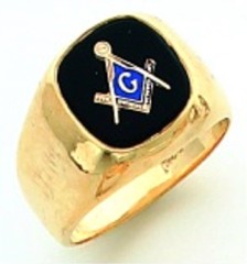 Gold Plated Blue Lodge Masonic Ring #1