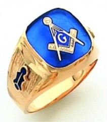 Gold Plated Blue Lodge Masonic Ring #2