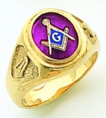 Gold Plated Blue Lodge Masonic Ring #11