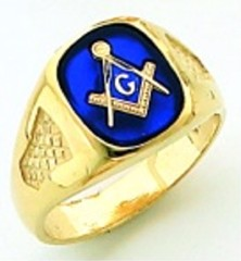 Gold Plated Blue Lodge Masonic Ring #12