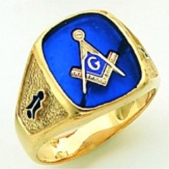 Gold Plated Blue Lodge Masonic Ring #14