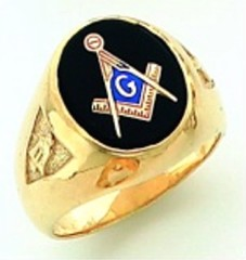 Gold Plated Blue Lodge Masonic Ring #3