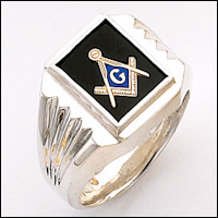 Sterling Silver Masonic Ring Blue Lodge Ring #60
