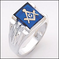 Sterling Silver Masonic Ring #63