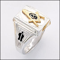 Sterling Silver Masonic Ring #64