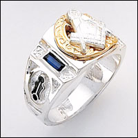 Sterling Silver Masonic Ring #65