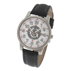 42mm White Sport Masonic Watch  #553 MSW107
