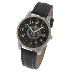 42mm Quartzline Black Masonic Watch  #551 MSW108