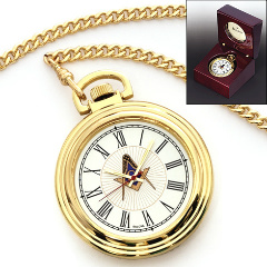 Masonic Pocket Watch with Chain #542 MSW46