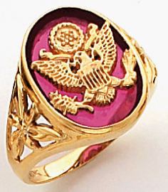 Women&#39s Military Ring 10KT or 14KT Yellow or White Gold #4110