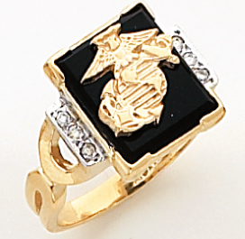 Women&#39s Military Ring, 10KT or 14KT Yellow or White Gold #4111