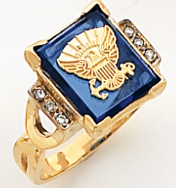 Women&#39s Military Ring, 10KT or 14KT, Yellow or White Gold #4113