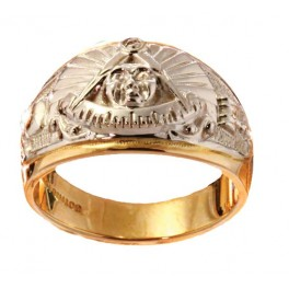 Masonic Past Master Rings, 10KT or 14KT YELLOW OR WHITE GOLD, Open or Solid Back #1018