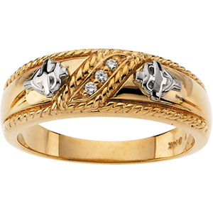 Gents Diamond Wedding Ring #17