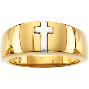 Two Tone Cross Ring #19