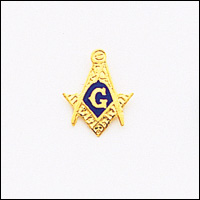 Masonic Blue Lodge Lapel Pin 10KT Yellow Gold #27