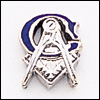 Masonic Blue Lodge Lapel Pin 10KT White Gold #28