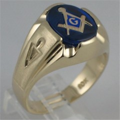 3rd Degree Blue Lodge Masonic Ring 10KT or 14KT Gold, Solid Back, Yellow or White Gold 707A