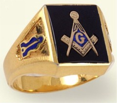 3rd Degree Masonic Blue Lodge Ring 10KT OR 14KT  Gold, Solid Back   #229