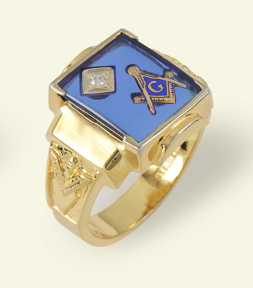 3rd Degree Masonic Blue Lodge Ring 10KT OR 14KT Gold, Open Back #241