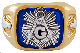 3rd Degree Masonic Blue Lodge Ring 10KT OR 14KT, Open Back #210
