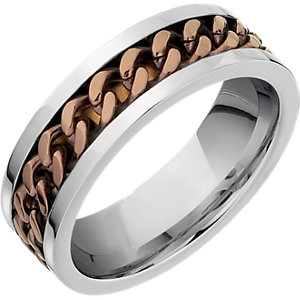 Stainless Steel Ring with Chocolate Immerse Plating #106