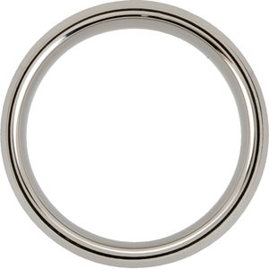 8.3mm Dura Tungsten™ Beveled Band with Satin Center #31