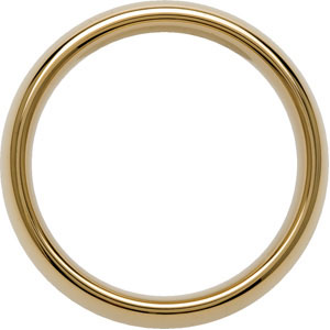 8.3mm Dura Tungsten™ Gold Immersion Plated Domed Band #38