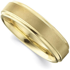 6.3mm Dura Tungsten™ Gold Immersion Plated Ridged Band #39A