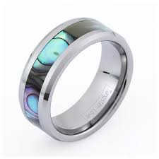 Men's or Women's Tungsten Abalone Ring #201