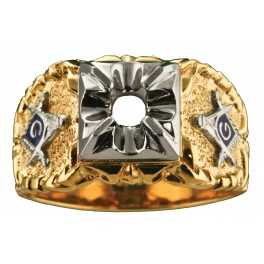 3rd Degree Masonic Ring 10KT OR 14KT, Open or Solid Back, White or Yellow Gold #608
