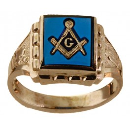 3rd Degree Blue Lodge Masonic Ring 10KT OR 14KT Yellow or White Gold, Open or Solid Back #503